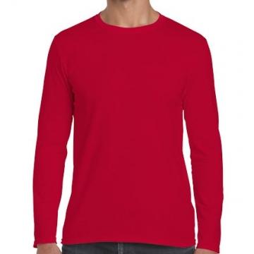 Červené tričko dlouhý rukáv