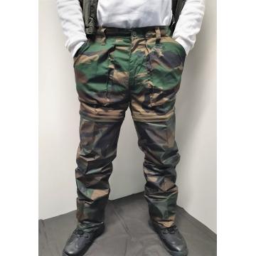 Kalhoty maskáčové 2v1FM04